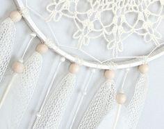 Pink Dream Catcher Crochet Doily Dreamcatcher by DreamcatchersUA