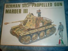 1970's Italaerei 1/35 Scale German Self Propelled Gun Marder III Model by MyHillbillyWays on Etsy
