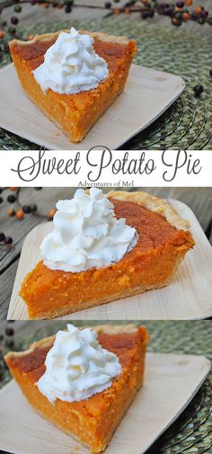 Nothing says Thanksgiving quite like Aunt Jennie's Sweet Potato Pie. Print the recipe for this scrumptious dessert you'll definitely want to add to your holiday menu. Sweet Desserts, Easy Desserts, Delicious Desserts, Dessert Recipes, Pie Dessert, Banting Desserts, Thanksgiving Desserts Easy, Happy Thanksgiving, Just Pies