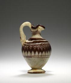Oinochoe; Unknown; Sicily (perhaps), Italy; 5th century B.C.; Glass; 8.3 cm (3 1/4 in.); 2003.179