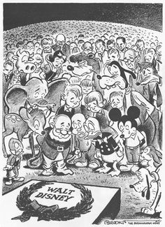 Walt Disney (December 5, 1901 - December 15, 1966)  Drawing by Charles Brooks   mickeyandcompany.tumblr.com