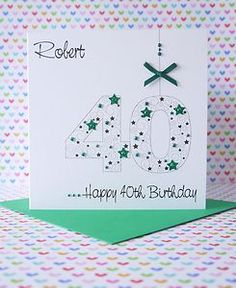 Personalised Handmade Male Birthday Card 18th,21st,30th,40th,50th,60th,70th
