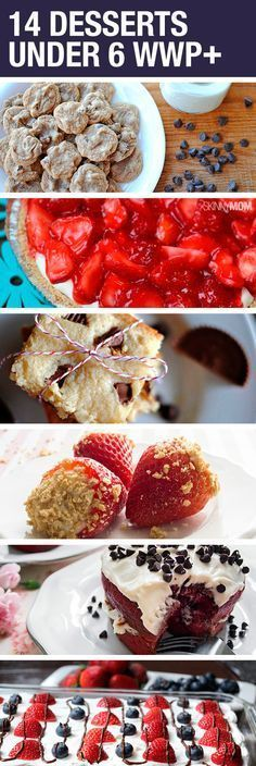 14 Healthier dessert options! (All under 6 WWP+)