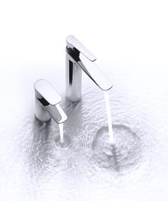 The KOHLER ALEO and ALEO+ faucet collection offer a comprehensive line-up of affordably-priced faucets for vanity tops, baths and showers to create a complete bathroom solution. Kohler engineered the faucets to be especially water-efficient (flow limited to 5 liters per minute). Kohler Faucet, Faucets, Vanity Tops, Complete Bathrooms, Baths, Showers, Flow, Create, Collection