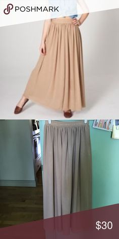 American Apparel nude maxi skirt stretchy elastic waist; size: M/L American Apparel Skirts Maxi