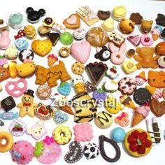 DIY Cell Phone Cases Assorted Kawaii Sweet Dessert resin Cabochon deco den kit