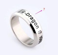 2016 Bigbang Fans Ring High Quality Stainless Steel Aneis Rings for Men and Women (7 styles available) YP2736