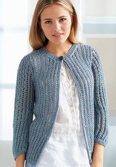 Patons Silk Bamboo - Sara's Cardigan (free knitting pattern)