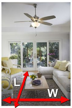 ceiling fan sizing guide the general rule of thumb to keep in mind