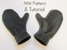 Like it or not, winter is coming.  Fleece Mitten Pattern and Tutorial.