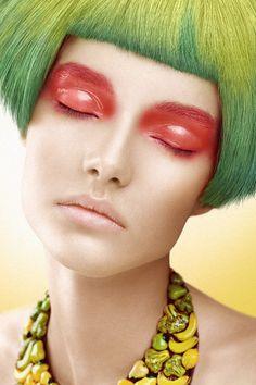 Make-up by White Room Studio, via Behance