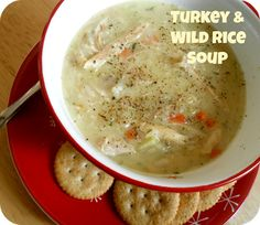The Better Baker: Turkey & Wild Rice Soup - thebetterbaker. Turkey Recipes, Rice Recipes, Cooking Recipes, Yummy Recipes, Turkey Wild Rice Soup, Kinds Of Soup, Beef Barley Soup, Country Cooking, Some Recipe