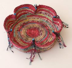 Make a pinched Coiled Basket from Scraps