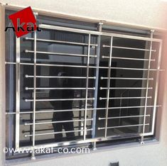Stainless Steel Window Grill - Buy Stainless Steel Window Grills at best price of Rs 850 /square feet from AADI Steel Furniture. Window Grill Design Modern, Balcony Grill Design, Grill Door Design, Balcony Railing Design, House Gate Design, Door Gate Design, Window Design, Door Grill, Glass Railing