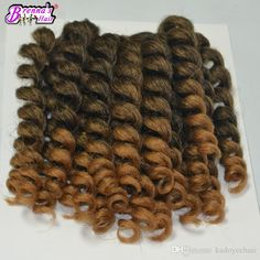 8-10 Inch Jumpy Wand Curl Crochet Hair Extensions Ombre Havana Mambo Twist Braiding Hair Synthetic Crochet Braids Hair Extensions Synthetic Hair Crochet Braids Braiding Hair Online with $6.55/Piece on Kadoyeehair's Store | DHgate.com Wand Curl Crochet Hair, Crochet Hair Extensions, Synthetic Hair Extensions, Braid In Hair Extensions, Crochet Braids Hairstyles, Cute Hairstyles, Braided Hairstyles, Hair Online, Hair Products Online