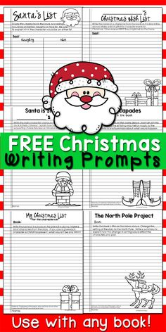 Free Christmas themed writing prompts for any book