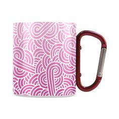 Ombre pink and white swirls zentangle Classic Insulated Mug (10.3 OZ) by @savousepate on @artsadd