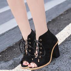 Shoespie Open Toe Lace Up Sandals