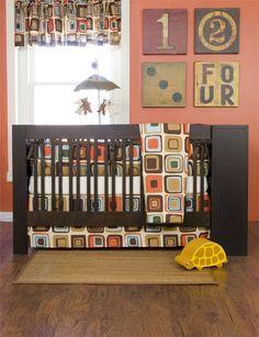 orange and brown nursery ideas