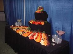Image detail for -set up of food by a catering service