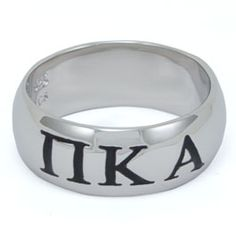 Pi Kappa Alpha Sterling Silver Wide Band Ring