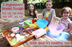 2 Ingredient Bread Dough that kids can make, play with and eat Cooking For A Group, Cooking With Kids, Easy Cooking, Toddler Meals, Toddler Activities, Kids Meals, Everyday Activities, E Recipe, Kindergarten Crafts