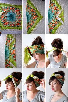 Como prender lenço ma cabeça