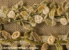 Casalguidi Garden Avenue (Needlelace Roses Detail) ~ by Pat Bootland ~ Embroiderers Guild ACT