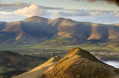View from Catbells towards de Skiddaw Massif range, English Lake District_ UK