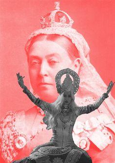 The Sun Never Sets – Black: Iggy Azalea, 2013; Red: Empress Victoria of India, 1887,