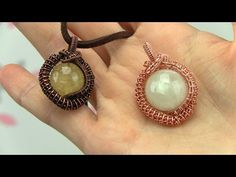 Wire Wrapped Tutorial/Demo: Cabochon Pendant, Undrilled Stone - YouTube