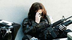 """Bucky Barnes. He looks like """".....ROMMANOOOOOOOOOOOFFFFFF."""""""