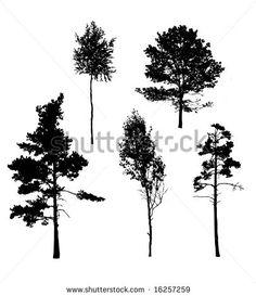 silhouette pine - Google Search