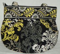 Vera Bradley Lg Size Double Handle Shoulder Bag Satchel Purse in Baroque Print #VeraBradley #SatchelShoulderBag