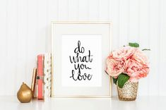 Hand Lettered Calligraphy Print / Do What You by DoveHouseHandmade