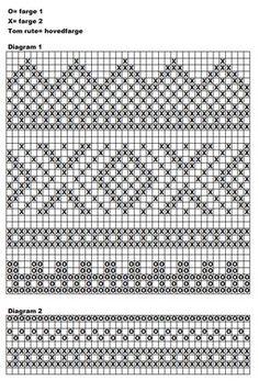 Bilderesultater for diagram mariusmønster Intarsia Patterns, Fair Isle Knitting Patterns, Knitting Charts, Stitch Patterns, Tapestry Crochet, Knit Crochet, Fair Isle Chart, Hand Warmers, Knitted Hats