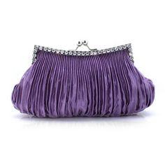 Purple Taffeta with Rhinestones Evening Handbags/ Clutches Cute Purses, Purses And Bags, Wedding Bag, Wholesale Bags, Evening Bags, Clutch Bag, Fashion Bags, Satin, Clutches