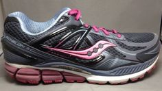 Saucony Echelon 5 Womens Running Shoes 9.5W Supportive Sneakers Gray Pink Berry