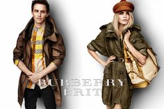 Burberry Brit S/S12 campaign featuring Eddie Redmayne and Cara Delevingne