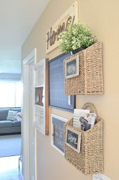 Farmhouse Style Family Command Center - Rustic Home Decor Country Command Center Kitchen, Family Command Center, Command Centers, Family Message Center, Home Improvement Projects, Home Projects, Home Office Decor, Diy Home Decor, Decor Room