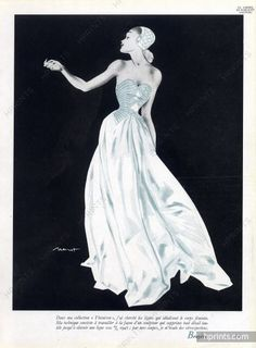 Bruyère 1947 Evening Dress, Brenot