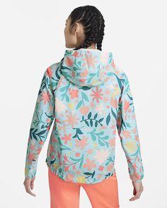 Nike Repel Women's Printed Golf Anorak. Nike CA Nike, Golf, Printed, Summer, Summer Time, Prints, Turtleneck