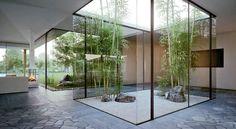 Indoors courtyard