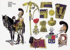 Louis Claude CHOUARD, Général de Brigade des Carabiniers 1811-1812 Lead Soldiers, Toy Soldiers, Military Weapons, Military Art, Empire, Etat Major, Colonel, French General, Army Uniform