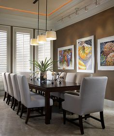suspended track lighting in dining room | Dining Room Design Ideas Pictures Remodeling and & Sekisui house Luzia | home designs | Pinterest | House azcodes.com