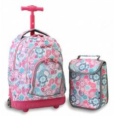 A Jansport rolling backpacks girls in animal frenzy ...