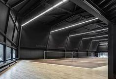 #Architecture in #Switzerland - #Badminton Hall  by Jan Henrik Hansen & Rolf Iseli http://divisare.com/projects/309453-jan-henrik-hansen-rolf-iseli-architects-eth-sia-roger-frei-badminton-hall-langnau-am-albis