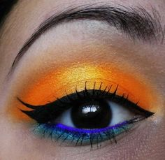 Sunset inspired make up look