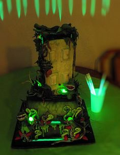 Spirit halloween contest...boo!!!:)(veronica d)goosebumps 'stay out of the basement' cake.