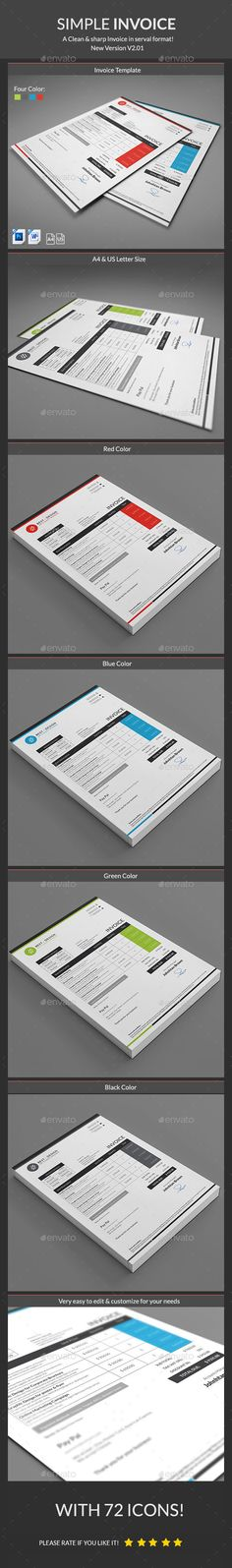 Clean Business Invoice Template Business proposal - simple invoice